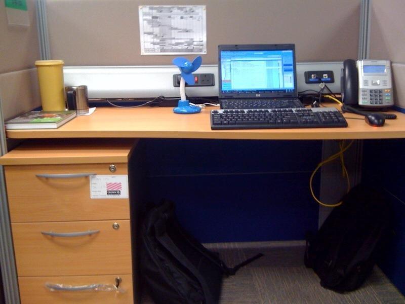 Cleaned desk